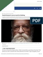 Daniel Dennett's Seven Tools for Thinking