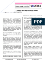 Single security strategy unites physical and logical assets