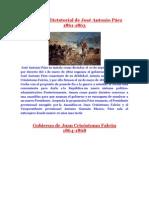 Gobierno Dictatorial de José Antonio Páez