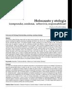 Holocausto y Etología