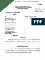 1 MainBeado design patent infringement complaint