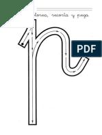 La letra p (método de la tortuga)