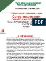 Constitucion de Empresa Para TECNOLOGICO 2013