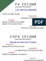 c o p a c e i 2009 Abertura