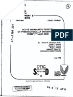 ACUTE Toxicity Therphtalic Acid