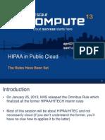 HIPAA and Public Cloud