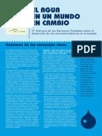 Resumen UNESCO Mensajes Clave Tercer Informe Sobre El Agua 2009