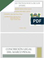 concreción legal del marco penal