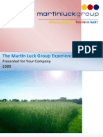 Martin Luck Group Experience