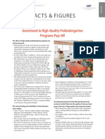 Investment in High-Quality Prekindergarten Programs Pays Off