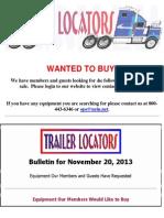 Wanted To Buy - November 20, 2013
