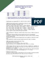 1Fase_Nivel1_Gabarito_2011