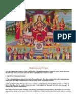 Hindu Scriptures Bhramanda Purana (Partial)