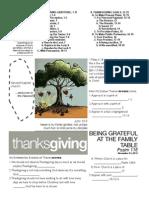Thanksgiving Psalm 116 Handout 112413