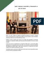 Ecuador busca ampliar relaciones comerciales y financiación en gira de Correa