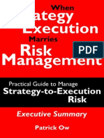When Strategy Execution Marries Risk Management — A Practical Guide to Manage Strategy-to-Execution Risk (Executive Summary)