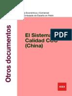 Documento Certificado de Calidad China