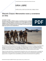Slavonic Corpus_ Mercenarios Rusos y Ucranianos en Siria