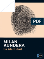 Milan Kundera. La Identidad (v1.0)