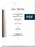 Henry Casper - Pax Tecum or Peace and Relaxation Through Technique and Truth