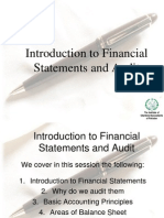 Introduction to Financial Statements and Audit