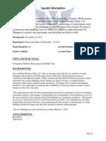 Economic Development Incentive Agreement - Clovis Barker Business Park LP