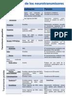 Clasificacion de Neurotransmisores