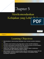 Chapter5 Recommending Policies