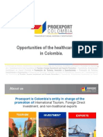 Opportunities of the healthcare sector in Colombia.