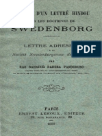 Opinion d'un lettré hindou sur les doctrines de Swedenborg