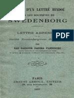 Opinion d'un lettré hindou sur les doctrines de Swedenborg