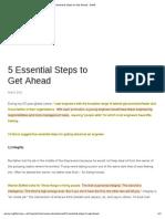 5 Essential Steps to Get Ahead - ASME