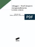 Heidegger y Jaspers - Correspondencia 1920-1963.pdf