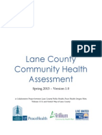 Lane County Community Health Needs Assessment 2013