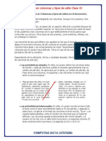 Formatos en Columnas Clase10