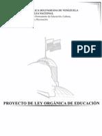 PROYECTO DE LA LEY ORGÁNICA DE EDUCACIÓN