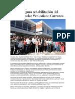 12-08-2013 Puebla on Line - RMV inaugura rehabilitación del Centro Escolar Venustiano Carranza