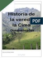 Historia de La Vereda La Cima Dosquebradas Bayron