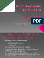 List of Awesome Formulas2ndLongExam