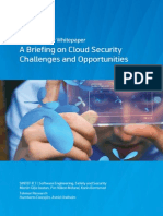 A Briefing on Cloud Security Challenges & Opportunities