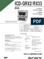 Sony HCD-GRX2RX33