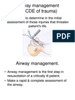10. Air Way Management (ABCDE of Trauma)