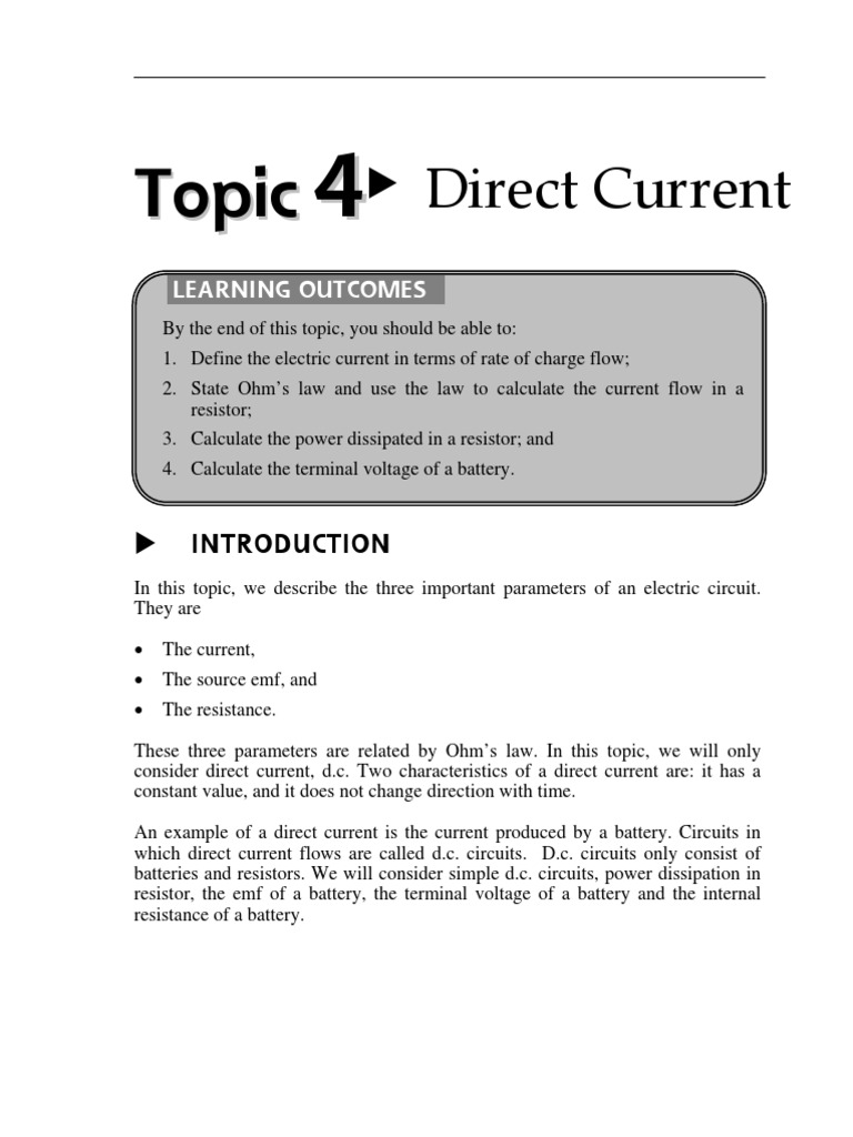 What is electric current in simple terms? 68