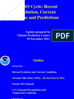 NCEP's  :Recent Evolution, Current Status and Predictions for El Niño–Southern Oscillation