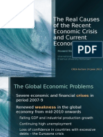 Howard Nicholas -  The real causes of the recent economic crisis and current economic turmoil