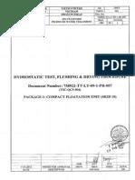 Hydrostatic Test Pressure Calculation