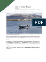 Detectan arsénico en el lago Titicaca
