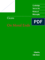 On Moral Ends (Cambridge Texts in the History of Philosophy) - Cicero