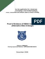 KEIOC Proof of Evidence (alternative sites & design)