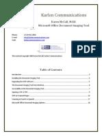 Microsoft Document Imaging Tools